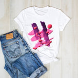 Women T-shirt Graphic 3D Finger Nail Paint Female T-shirt Top Tee Shirt Ladies Clothing Harajuku T-shirt Top Plus Size T-shirts
