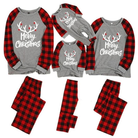 Family Christmas Matching Pajamas Set 2020 Xmas Adult Kids Pyjamas Nightwear Baby Romper Merry Christmas Family Matching Outfits
