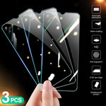 3Pcs Protective Glass on the For Huawei Honor 10 20 9X 9A 9S 8X 8C 8A 8S Tempered Glass Screen Protector Honor 9 10 20 Lite Film