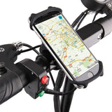 Silicone Bicycle Phone Holder Motorcycle for IPhone 12 11 pro max 7 8 plus X Xr Xs Mobile Phone Stand Bike GPS Clip Quick Mount