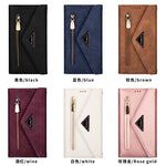 Crossbody Card Stand Holder Zipper Purse Leather Case for Samsung Note 20 Ultra S8 S9 S10 Lite S20 Note 10 Lite 8 9 A51 71 50 70