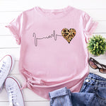 ZOGANKIN Summer Fashion Shirt Lips Leopard Graphic T Shirt Women Tops Base O-neckBlack Tees Kiss Leopard Lip Funny Girls Tshirt