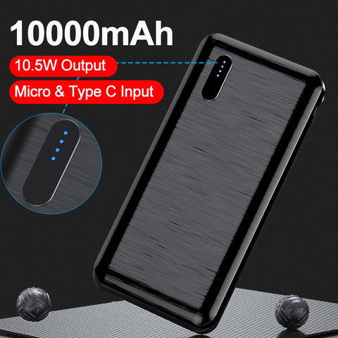 YKZ LED Display Power bank For iPhone 12 10000mAh USB Type C Mini Portable Charger Travel Quick External Battery For Xiaomi Mi9