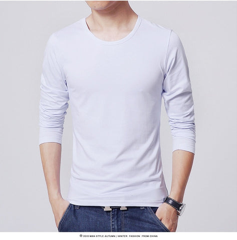 2021 MRMT men's T shirt 3 Basic colors Long Sleeve Slim T-shirt young men Pure color tee shirt 3XL size O neck