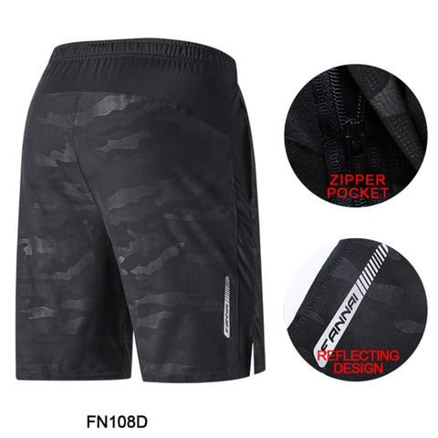 FANNAI Running Shorts Quick Dry for Sports Workout Jogging Fitness Training Gym Crossfit Men Pants Camo Camouflage with Pocket