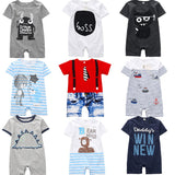 Baby Rompers Summer Style Powered Baby Boy Girl Clothing Newborn Infant giraffe Short Sleeve Clothes 3-6-9-12-18 Months