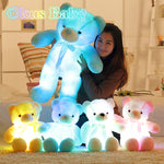 Luminous 30/50/80cm Creative Light Up LED Teddy Bear Stuffed Animal Plush Toy Colorful Glowing Teddy Bear Christmas Gift for Kid