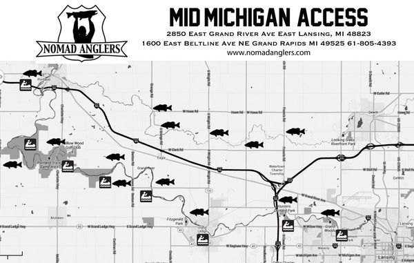 Grand River Fishing Map