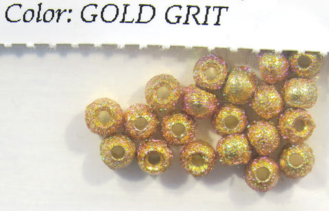 Gritty Brass Beads