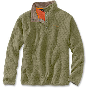 TROUT BUM® QUILTED SNAP SWEATSHIRT