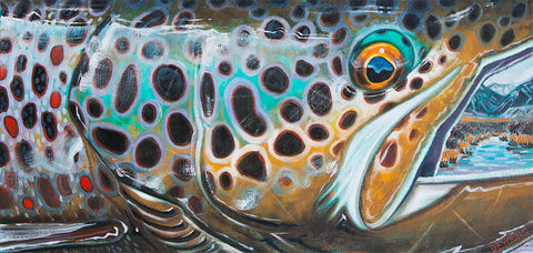 Brown Trout Abstract Decal