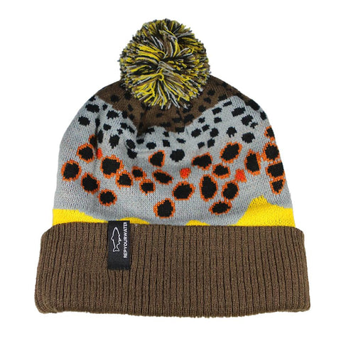 Brown Trout Skin 2.0 Knit Hat