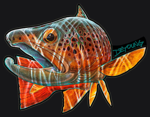 DeYoung Brown Trout Pursuit Cutout Decal