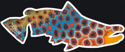 Brown Trout Flank Blue Decal