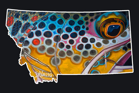 Montana Brown Rusty Spinner Decal