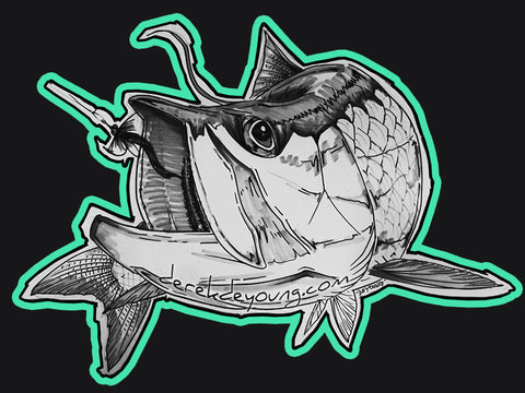 Tarpon Sketch Decal
