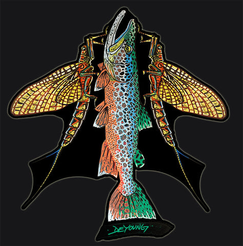Trout Mayflies Decal
