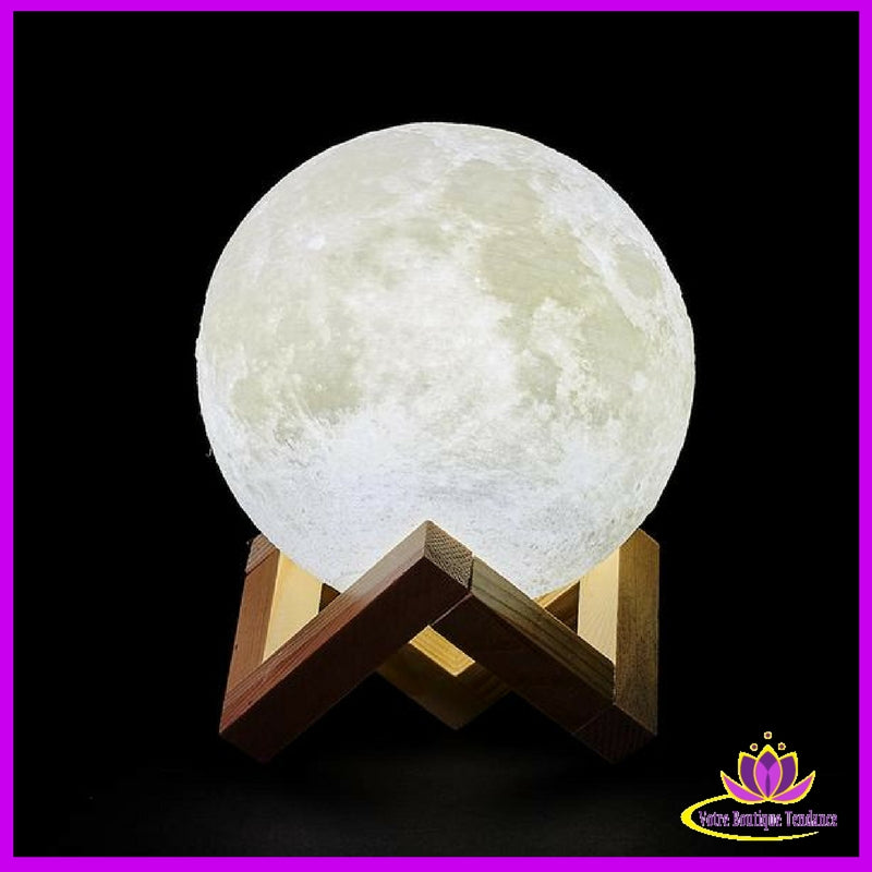 Lampe 3d Lune Led Clair De Lune Luna Moonlight Usb Rechargeable