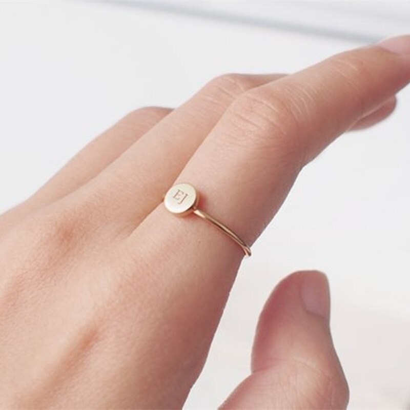 Tiny Hand-Engraved Personalized 14kt Gold Fill Ring