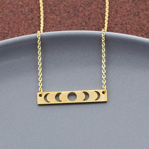Moon Phase Lunar Eclipse Necklace