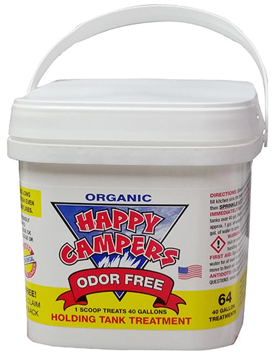 Happy Campers RV Organic Holding Tank Treatment- 64 Treatments (40 Gallon)