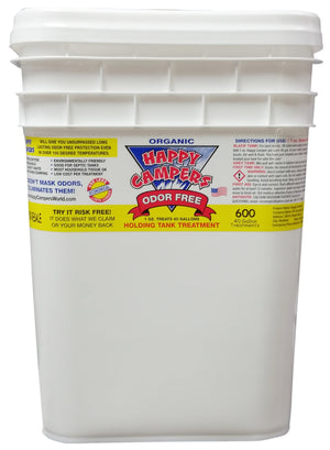 ***FREE SHIPPING*** Happy Campers RV Organic Holding Tank Treatment- 600 Treatments (40 Gallon)