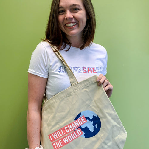 'I Will Change the World' Cotton Tote Bag