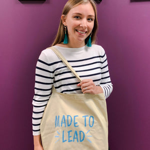'Made to Lead' Cotton Tote Bag
