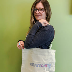 'SuperSHEro' Cotton Tote Bag