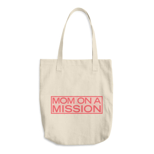 'Mom on a Mission' Cotton Tote Bag