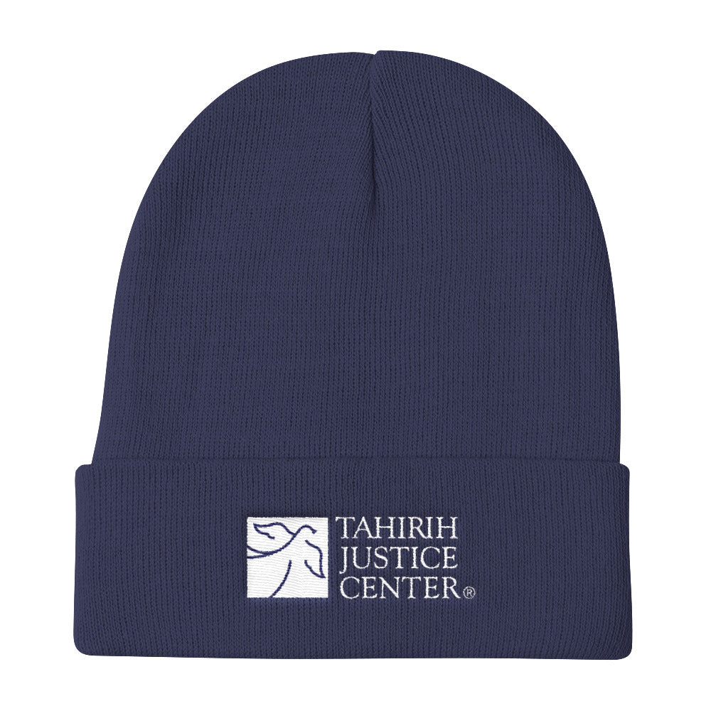 Tahirih Logo Embroidered Knit Beanie