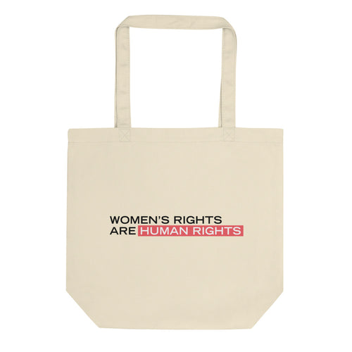 'Women's Rights Are Human Rights' Cotton Tote Bag