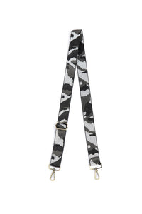 Grey Camo Guitar Purse Strap