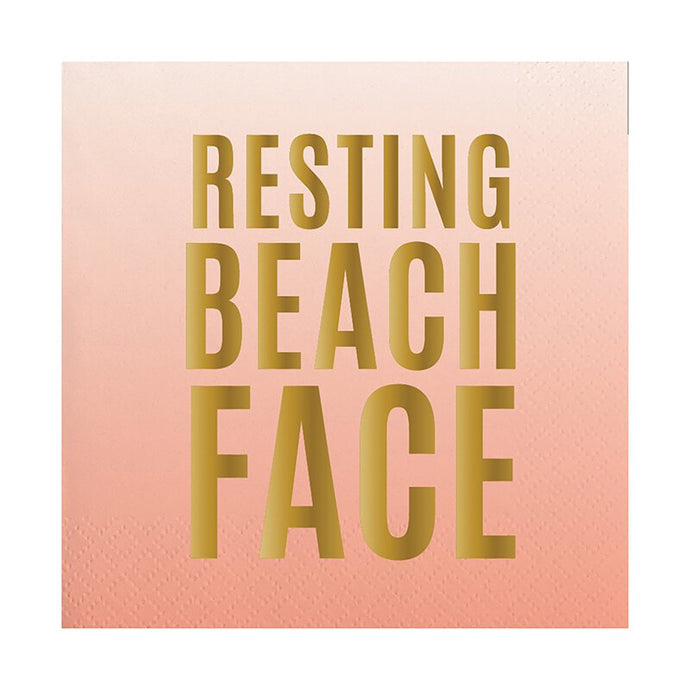 Resting Beach Face Napkins