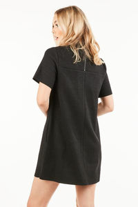 Mockneck Zipper Back Dress