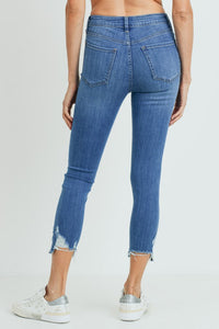 Med Denim High Rise Skinny Jean