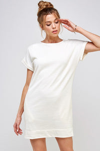 Short Sleeve Ivory Dress