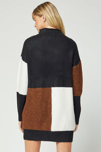 Sweater Colorblock Dress