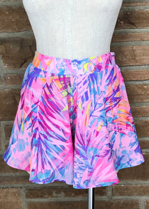Pink/Blue Tropical Swing Shorts
