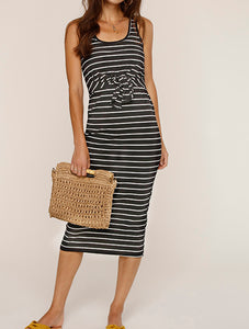 Kenzie Black/White Stripe Dress