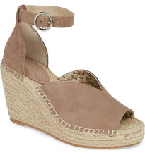 Taupe Suede Espadrille Wedges