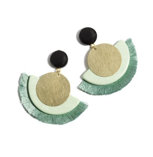 Mint Gemini Earrings