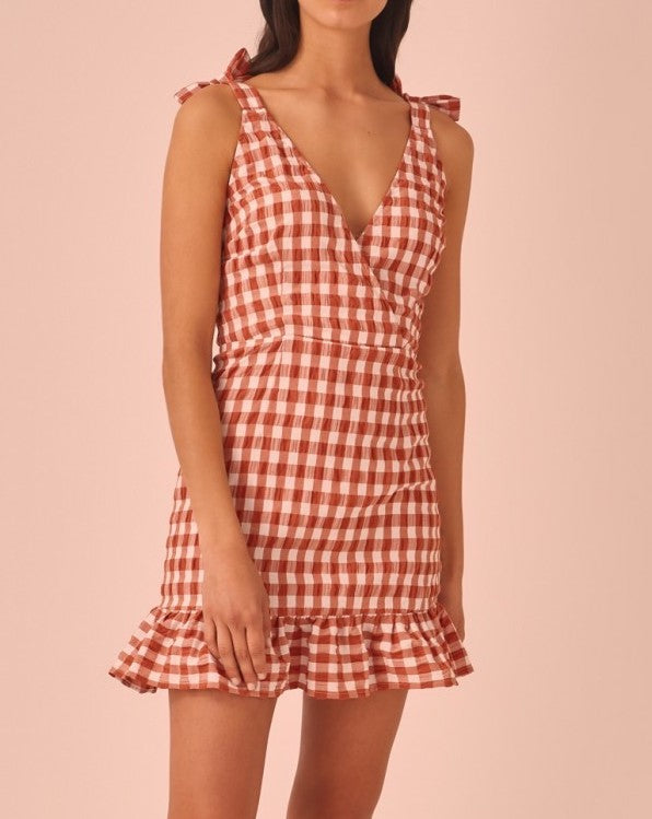 Nouveau Red & White Check Dress