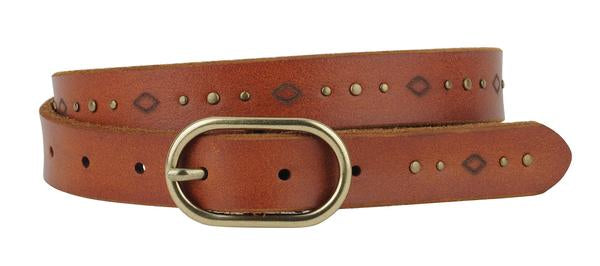 Studded Laser Tooled Belt