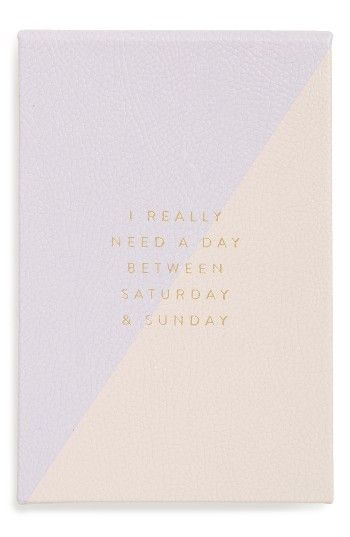 Saturday & Sunday Notepad