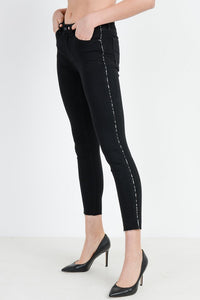 Black Jeans w/ Leopard Piping