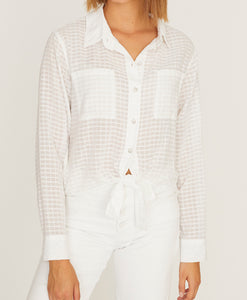 White Resort Tie Shirt
