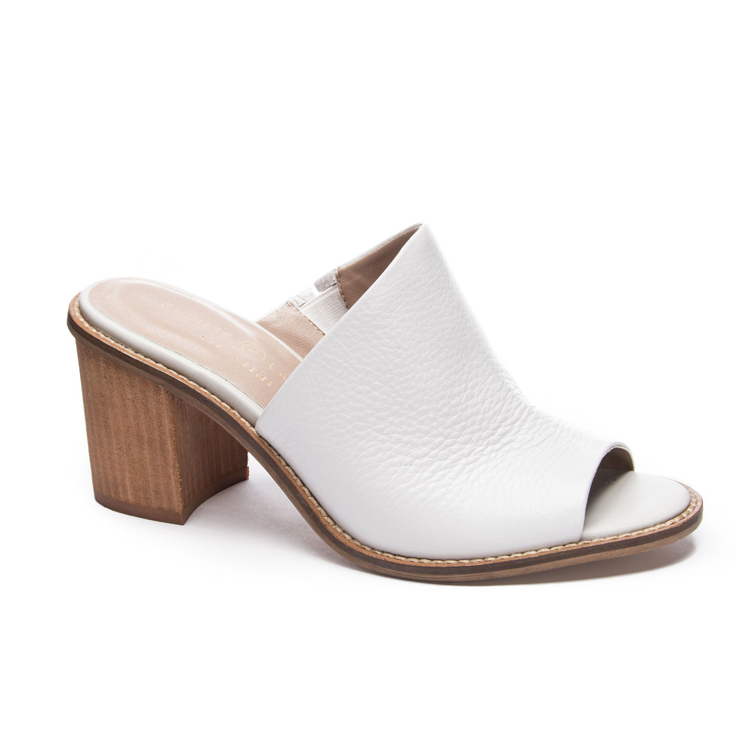Carlin Leather Mule Cloud
