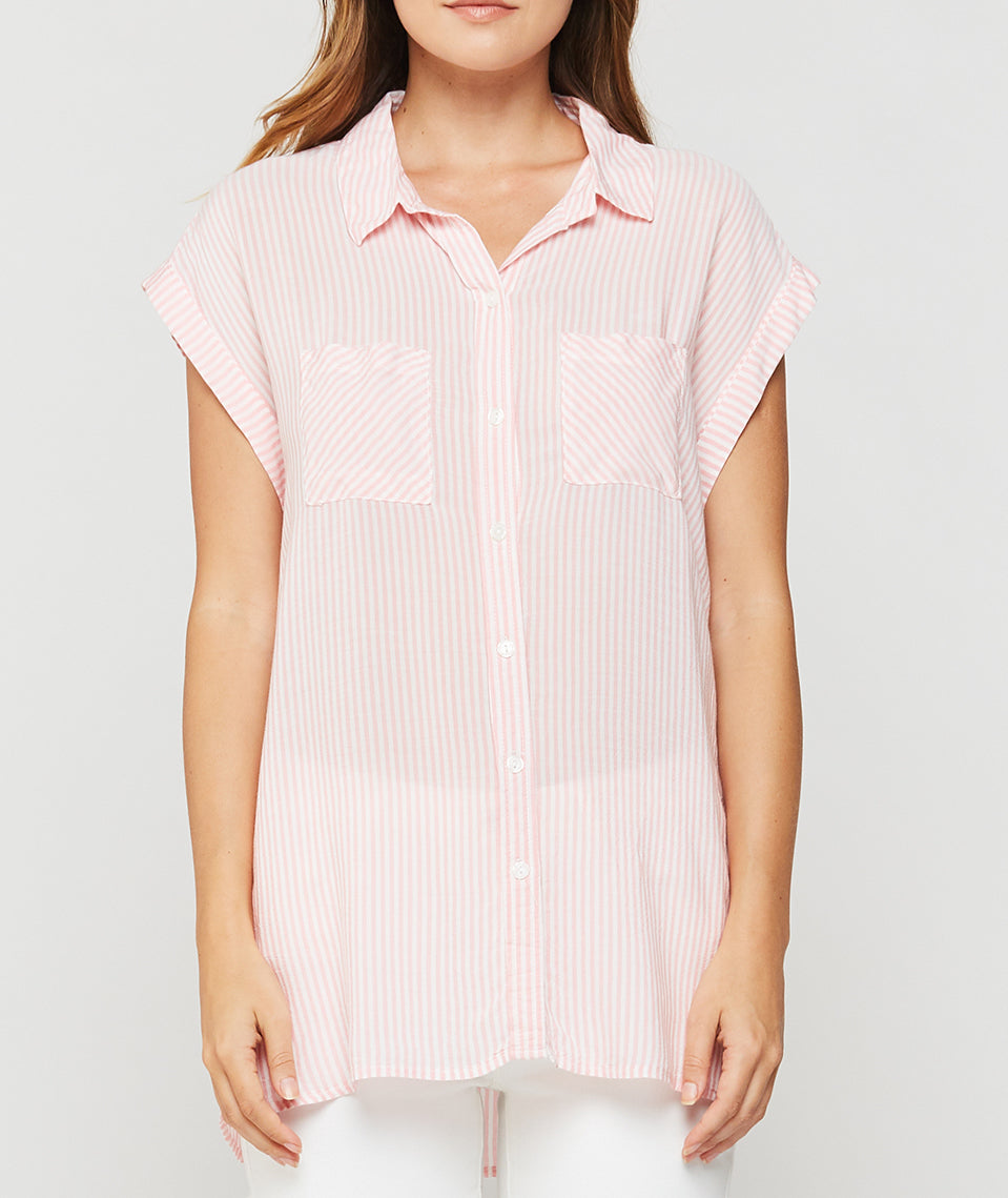 Pink Stripe Becky S/S Top
