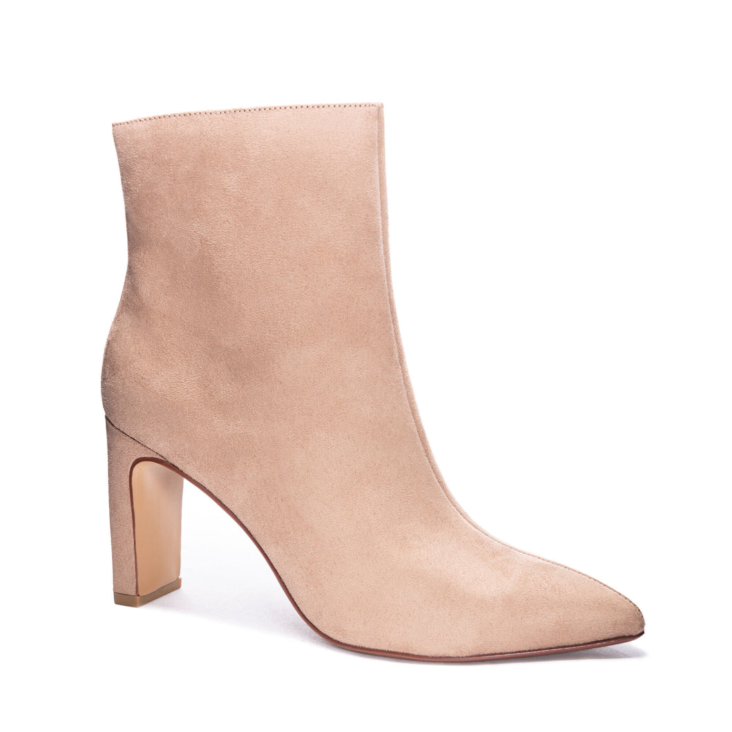 Taupe Erin Fine Suede Bootie